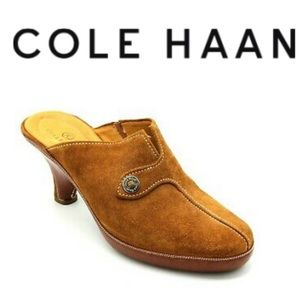 Cole Haan Devon Mule Amber Suede Size 11